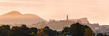 Edinburgh's Calton Hill At Sun...