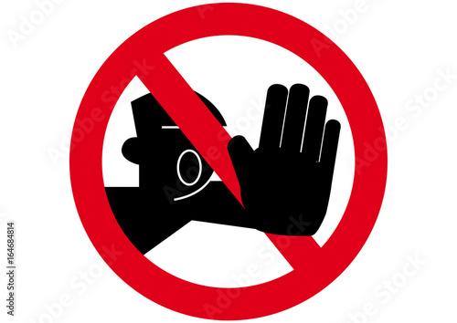 Fototapeta Schild Durchgang verboten