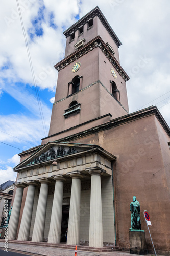 Photo  View of Vor Frue Kirke (Church of Our Lady, 1829) - cathedral of Copenhagen