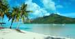 plage de rêve avec lagon turquoise, polynésie, tahiti