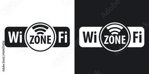 Fotografía Vector Wi-Fi zone icon