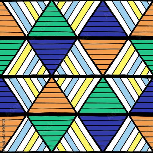 Summer Geometric Pattern Vector Seamless Abstract Border