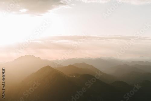 sunrise in the bavarian alps - 164698281