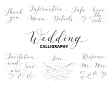 Wedding Hand Written Calligrap...
