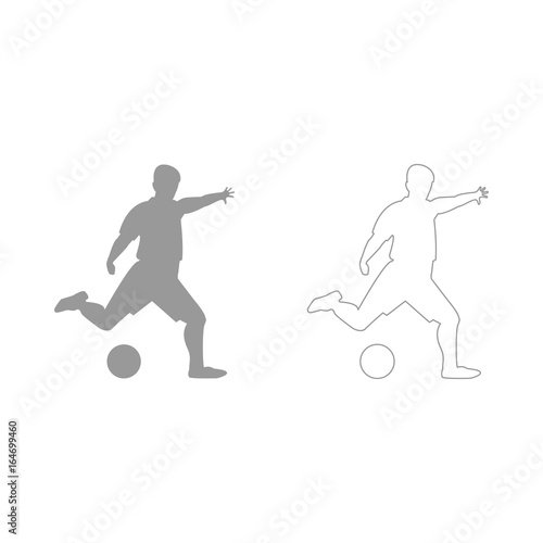 Juliste  Footballer  set  icon .