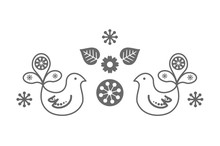 Scandinavian Folk Decoration W...