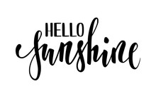 Hello Sunshine. Hand Drawn Cal...