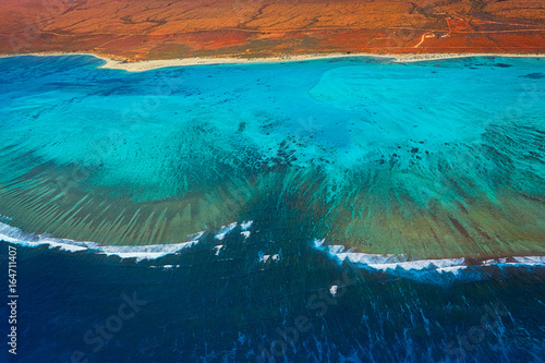 Aerial view of the Ningaloo Reef in Western Australia Wallpaper Mural