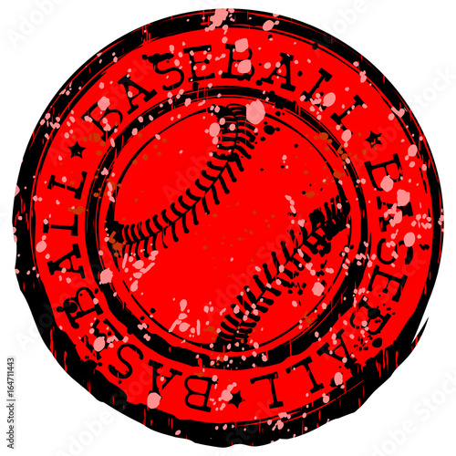 Photo  baseball stamp