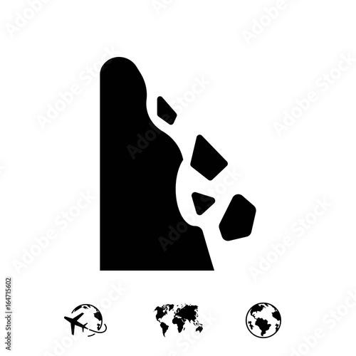 rockfall icon stock vector illustration flat design Fototapet