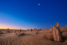Sunset At The Pinnacles Desert In Western Australia