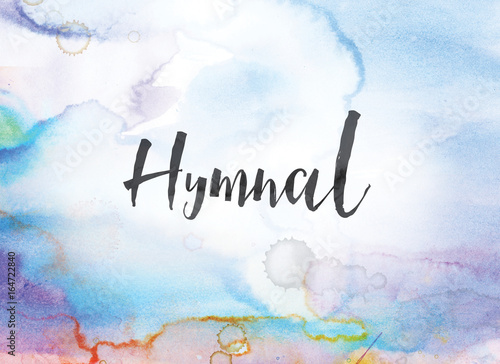 Hymnal Concept Watercolor and Ink Painting Wallpaper Mural