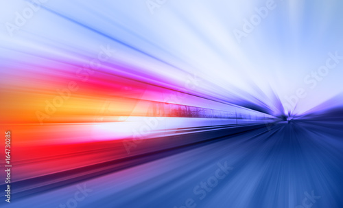 Fototapeta High speed train