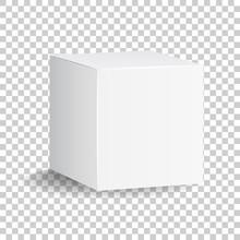 Blank White Carton 3d Box Icon...