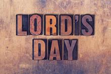 Lord's Day Theme Letterpress W...