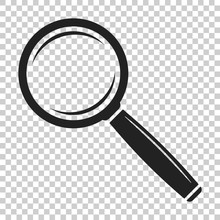 Loupe Icon Vector. Magnifier I...
