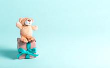 Baby Birthday Theme With Teddy...