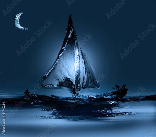 magiczna-lodka-z-wody-w-swietle-ksiezyca