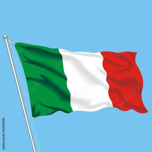 Plakat Flaga Włoch