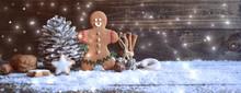 Weihnachtshintergrund - Weihnachtsbäckerei