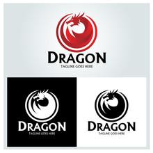 Dragon Logo Design Template. V...