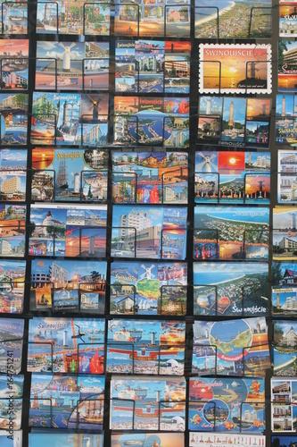 Deurstickers Stained Hintergrund Ansichtskarten