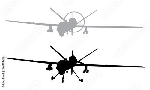 Photo  Drone vector silhouette