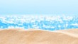 On the Beach / By the Sea - sand dune in front of beautiful azure sea on a sunny day - seamless loop