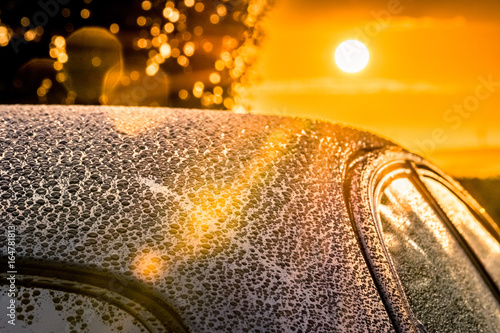 Car Detailing Sunset Beading