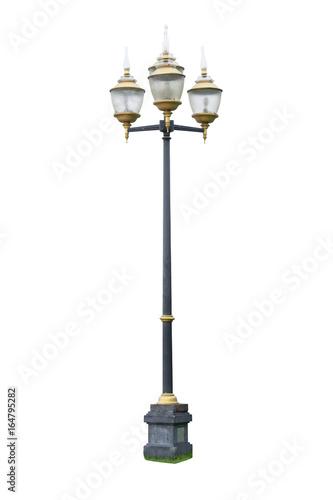 vintage street light lamp post isolated on white background buy