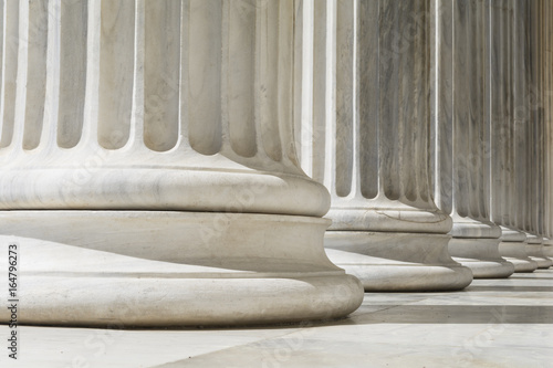 Tablou Canvas Ionic order colonnade, close up.
