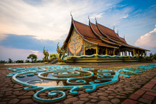 Wat Sirindhorn Wararam Phu Prao Temple In Ubon Ratchathani, Thailand