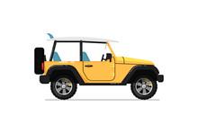 Off Road Jeep Icon. Comfortabl...