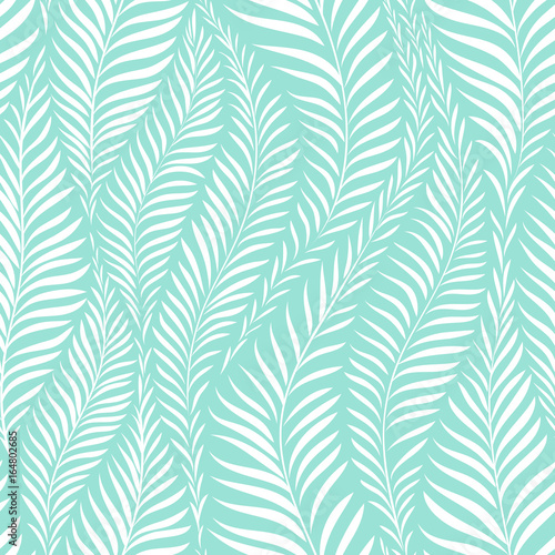 Cotton fabric Palm leaf pattern