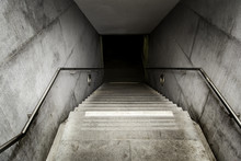 Stairs Of An Access To An Unde...