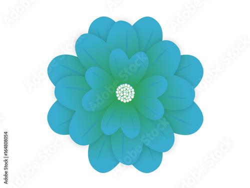 Fototapety, obrazy: Blue flower isolated on white background
