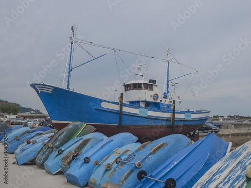 Barcas en Hondarribia / Boats in Hondarribia. Guipuzkoa