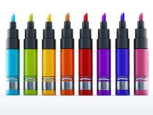 Multi Colored Marker Pen Isola...