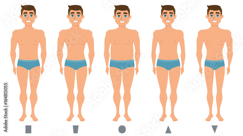 Fotografía  Male body figures, man standing, men shapes