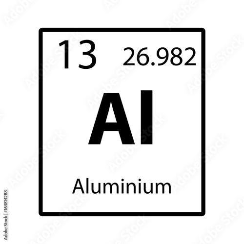 Aluminium Periodic Table Element Icon On White Background