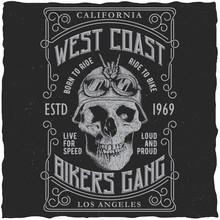 West Coast Bikers Gang Poster
