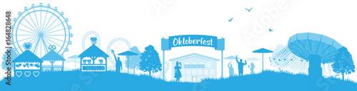 Fotografía Oktoberfest München Skyline Panorama