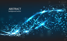 Vector Abstract Blue Motion Li...