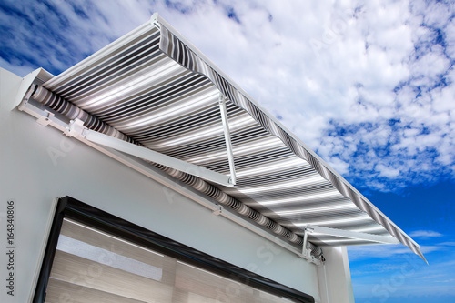 Fotografie, Obraz  Canvas awning with a sky background