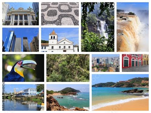 Papiers peints Amérique du Sud Brazil collage
