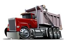 Vector Cartoon Dump Truck. Ava...