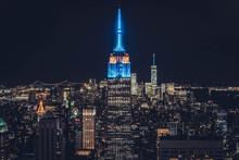Top Of The Rock New York Night Skyline