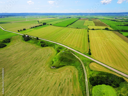 Wall Murals Air photo Aerial view of countryside