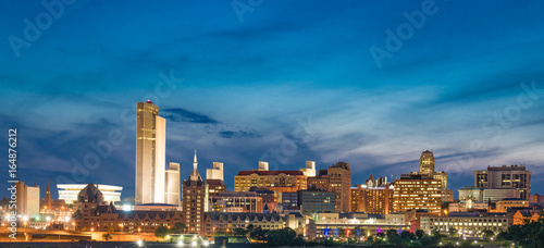 Albany Night Skyline Tablou Canvas