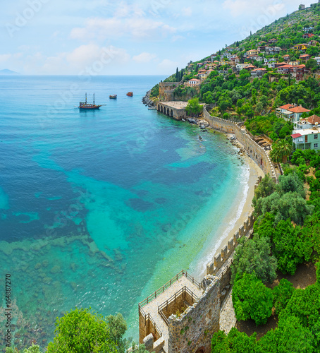 Poster Turquie The coastal fortress wall in Alanya